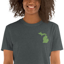 Load image into Gallery viewer, Michigan Unisex T-Shirt - Green Embroidery