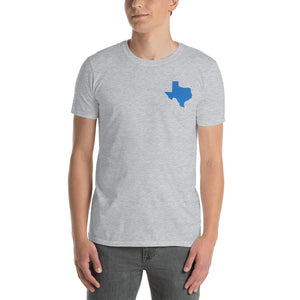 Texas Unisex T-Shirt - Blue Embroidery
