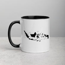 Load image into Gallery viewer, Indonesia Map Coffee Mug with Color Inside - 11 oz