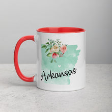 Load image into Gallery viewer, Arkansas AR Map Floral Mug - 11 oz