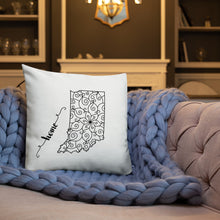 Load image into Gallery viewer, Indiana IN State Map Premium Pillow