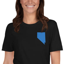 Load image into Gallery viewer, Nevada Unisex T-Shirt - Blue Embroidery