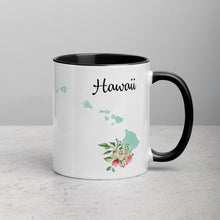 Load image into Gallery viewer, Hawaii HI Map Floral Mug - 11 oz