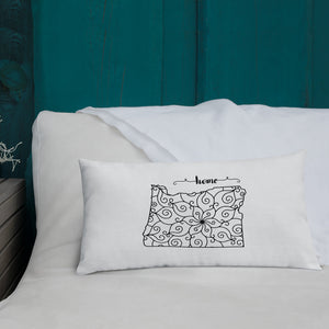 Oregon OR State Map Premium Pillow