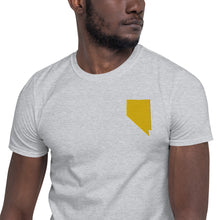 Load image into Gallery viewer, Nevada Unisex T-Shirt - Gold Embroidery