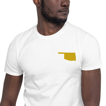 Load image into Gallery viewer, Oklahoma Unisex T-Shirt - Gold Embroidery
