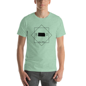 Kansas KS Short-Sleeve Unisex T-Shirt - MissionMint