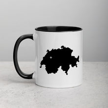 Load image into Gallery viewer, Switzerland Map Mug with Color Inside - 11 oz