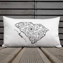 Load image into Gallery viewer, South Carolina SC State Map Premium Pillow