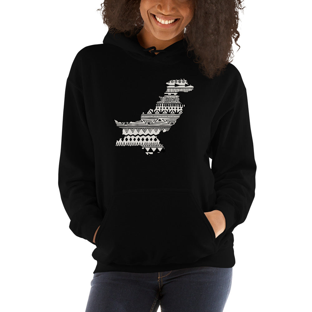 Pakistan Map Unisex Hoodie Home Country Pride Gift