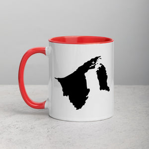 Brunei Map Coffee Mug with Color Inside - 11 oz