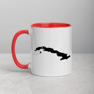 Cuba Map Coffee Mug with Color Inside - 11 oz