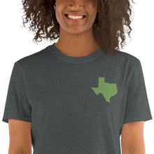 Load image into Gallery viewer, Texas Unisex T-Shirt - Green Embroidery