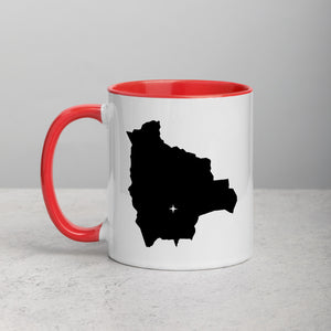 Bolivia Map Coffee Mug with Color Inside - 11 oz