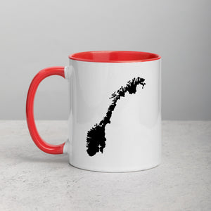 Norway Map Coffee Mug with Color Inside - 11 oz