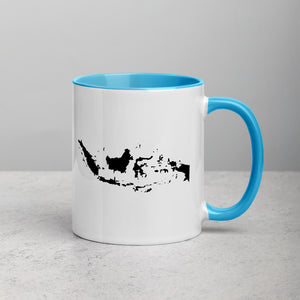 Indonesia Map Coffee Mug with Color Inside - 11 oz