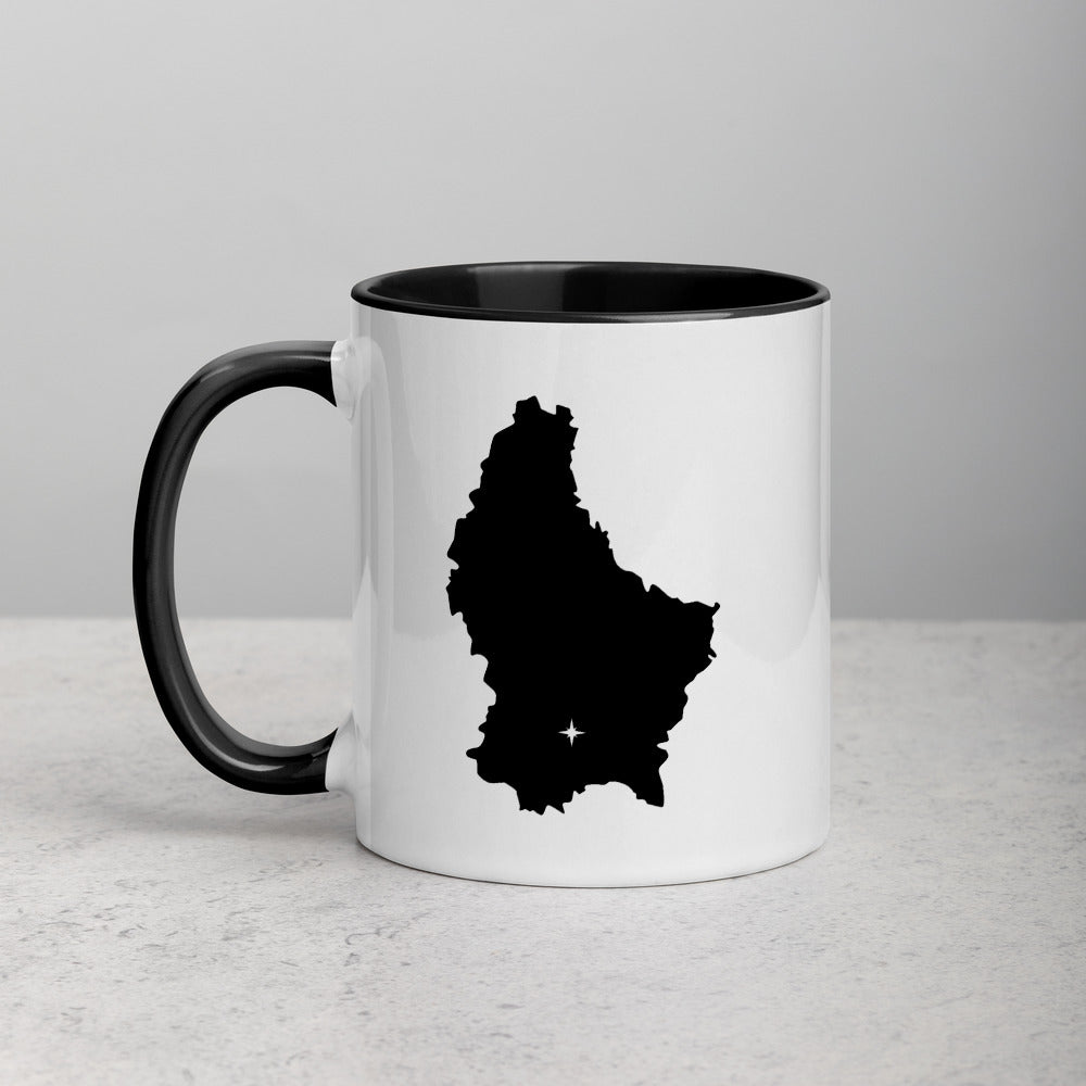 Luxembourg Map Mug with Color Inside - 11 oz