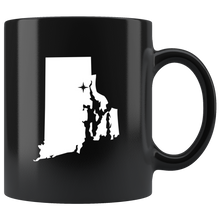 Load image into Gallery viewer, Rhode Island Coffee Mug - Black 11oz. - RI - MissionMint