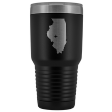 Load image into Gallery viewer, Illinois Tumbler Travel Map Adoption Moving Gift - 30oz - MissionMint