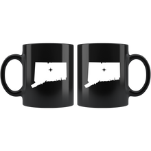 Load image into Gallery viewer, Connecticut Coffee Mug - Black 11oz. - CT - MissionMint