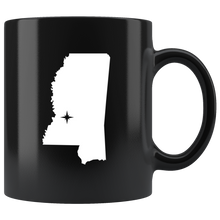 Load image into Gallery viewer, Mississippi Coffee Mug - Black 11oz. - MS - MissionMint