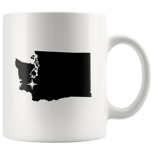 Washington Coffee Mug - White 11oz - WA - MissionMint