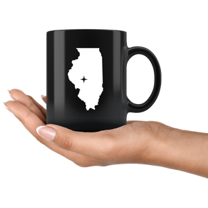 Illinois Coffee Mug - Black 11oz. - IL - MissionMint
