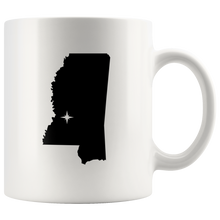 Load image into Gallery viewer, Mississippi Coffee Mug - White 11oz - MS - MissionMint