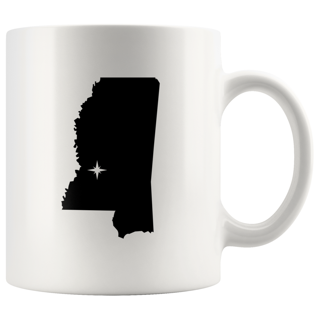 Mississippi Coffee Mug - White 11oz - MS - MissionMint