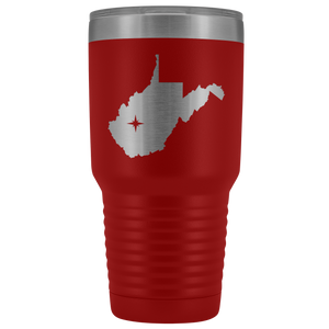 West Virginia Tumbler Travel Map Adoption Moving Gift - 30oz - MissionMint