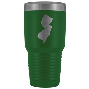 New Jersey Tumbler Travel Map Adoption Moving Gift - 30oz - MissionMint