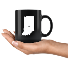 Load image into Gallery viewer, Indiana Coffee Mug - Black 11oz. - IN - MissionMint