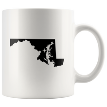 Load image into Gallery viewer, Maryland Coffee Mug - White 11oz - MD - MissionMint