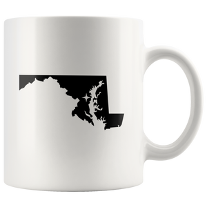 Maryland Coffee Mug - White 11oz - MD - MissionMint