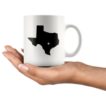Load image into Gallery viewer, Texas Coffee Mug - White 11oz - TX - MissionMint