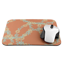 Load image into Gallery viewer, Mouse Pad Orange Floral Pattern - MissionMint