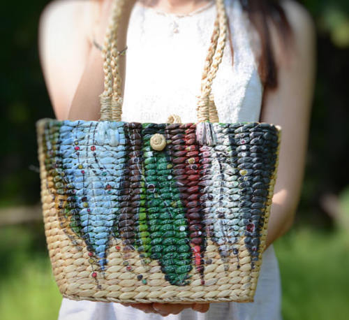 Unique Dream Catcher Straw Bag - MissionMint