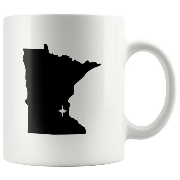 Minnesota Coffee Mug - White 11oz - MN - MissionMint