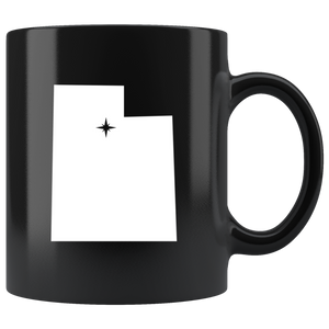 Utah Coffee Mug - Black 11oz. - UT - MissionMint