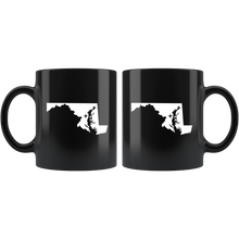 Load image into Gallery viewer, Maryland Coffee Mug - Black 11oz. - MD - MissionMint