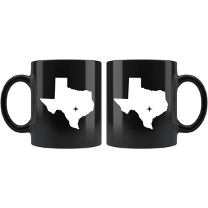 Texas Coffee Mug - Black 11oz. - TX - MissionMint