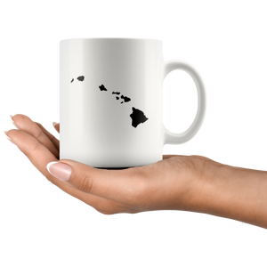 Hawaii Coffee Mug - White 11oz - HI - MissionMint
