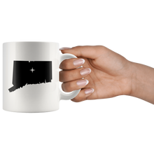 Load image into Gallery viewer, Connecticut Coffee Mug - White 11oz - CT - MissionMint
