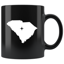 Load image into Gallery viewer, South Carolina Coffee Mug - Black 11oz. - SC - MissionMint