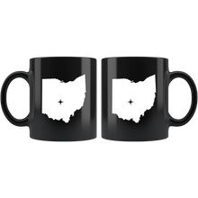 Load image into Gallery viewer, Ohio Coffee Mug - Black 11oz. - OH - MissionMint