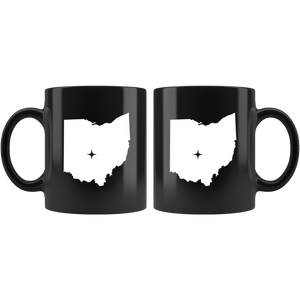 Ohio Coffee Mug - Black 11oz. - OH - MissionMint