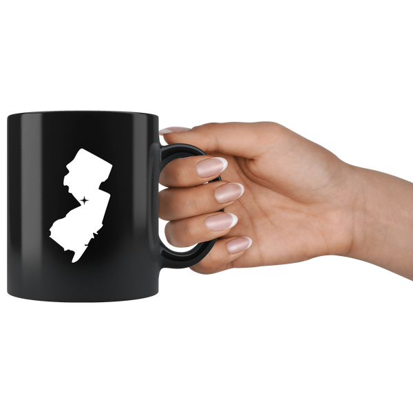 New Jersey Coffee Mug - Black 11oz. - NJ - MissionMint
