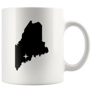 Maine Coffee Mug - White 11oz - ME - MissionMint