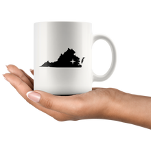 Load image into Gallery viewer, Virginia Coffee Mug - White 11oz - VA - MissionMint