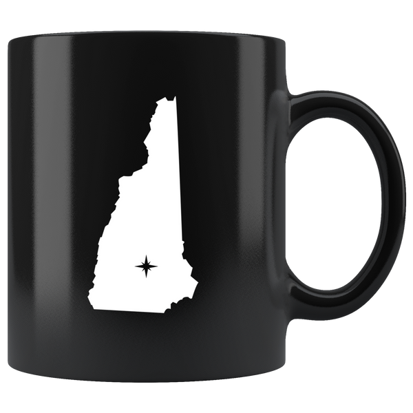 New Hampshire Coffee Mug - Black 11oz. - NH - MissionMint